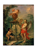 Cupid Sharpening an Arrow  1750