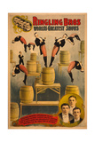 Ringling Bros  World's Greatest Shows Raschetta Brothers  Marvelous Somersaulting Vaulters  C 1900
