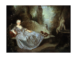 A Lady in a Garden  18th Century