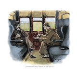 The Adventure of Silver Blaze  Holmes and Watson on Train
