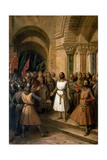 The Election of Godfrey of Bouillon as the King of Jerusalem on July 23  1099