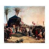 Saint Louis  King of France Receiving Robert Patriarch of Jerusalem in Damietta in 1249
