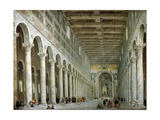 Interior of the Basilica of St Paul Outside the Walls in Rome  C1750