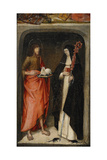 Saint John the Baptist and Saint Gertrude of Nivelles  1480