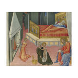 The Birth of Saint John the Baptist (Predella Pane)  1454