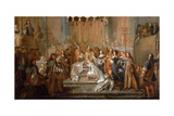 Baptism of the Dauphin Louis  Son of Louis XIV  Celebrated in the Saint-Germain-En-Laye  March 24