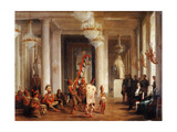Dance by Iowa Indians in the Salon De La Paix at the Tuileries