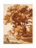 Group of Trees and Resting Sheperd  1630S