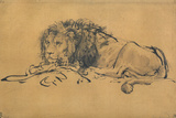 Lion Resting  Turned to the Left  C1650