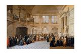 Louis XIV Receiving the Oath of the Marquis De Dangeau