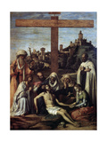 The Lamentation over Christ with a Carmelite Monk  C1510