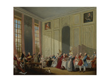 Mozart Giving a Concert in the Salon Des Quatre-Glaces at the Palais Du Temple