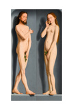 Adam and Eve (Sedano Family Triptych  Exterior Panel)