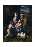 The Holy Family with John the Baptist and Saint Elizabeth (La Perl)