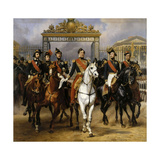 Louis Philippe and His Sons to Horse at This Leave Versailles of Lock  June 10  1837