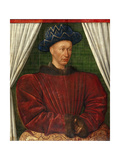 Portrait of the King Charles VII of France  1445-1450