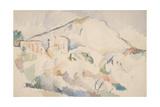 Château Noir and Mont Sainte-Victoire  Ca 1890-1895