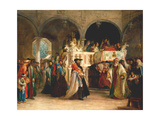 The Feast of the Rejoicing of the Torah at the Synagogue in Leghorn  Italy  1850