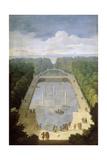 Bosquet De L'Île Royale and Bassin Du Miroir in the Gardens of Versailles