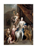 Marquise De Montespan (1640-170) and Her Children