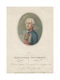Portrait of Field Marshal Generalissimo Prince Alexander Suvorov  1799