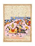 Malik Lifts Abu'l Mihjan from the Saddle  from Khavarannama (The Book of the Eas) of Ibn Husam Al-D