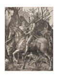 Knight, Death and the Devil Giclée par Albrecht Dürer
