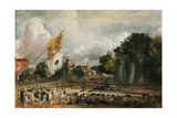Celebration of the General Peace of 1814 in East Bergholt  1814