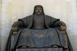 Seated Statue of Chingis Khan at the Parliament Building in Ulan Bator  2005