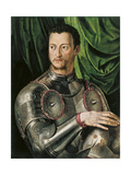 Portrait of Grand Duke of Tuscany Cosimo I De' Medici (1519-157) in Armour