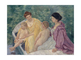 Le Bain (Two Mothers and their Children in a Boa)