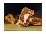 Still Life of Sheep's Ribs and Head (The Butcher's Counter)