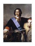 Portrait of Emperor Peter I the Great (1672-172)