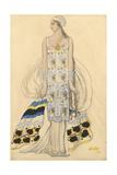 Costume Design for Ida Rubinstein in the Drama Phaedra (Phèdr) by Jean Racine