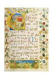 Leaf from Antiphonary for Elisabeth Von Gemmingen  C 1504