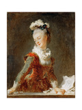 Portrait of the Ballerina Marie-Madeleine Guimard (1743-181)