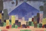 The Mountain Niesen, Egyptian Night Giclée par Paul Klee