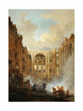 Fire at the Opera House of the Palais-Royal in 1781