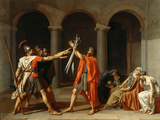 The Oath of the Horatii Giclée par Jacques Louis David