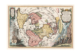 World Map with Magellan's Circumnavigation  1702-1703