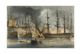 The Naval Battle of Navarino on 20 October 1827