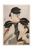 Three Beauties of the Present Day (Toji San Biji) Giclée par Kitagawa Utamaro