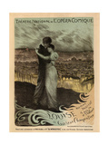 Poster for the Oper Louise by Gustave Charpentier  1900