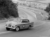Sunbeam Rapier Racing at Brands Hatch  Kent  1961