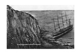 The Cliffs and Wrecked Preussen  Dover  20th Century