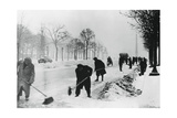 Clearing Snow on the Champs Elysees  German-Occupied Paris  Winter  1941