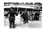 Demobilised French Soldiers Arriving at the Gare D'Austerlitz  Paris  1945
