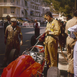 A Ferrari Team Member Filling a Car with Fuel  Monaco Grand Prix  Monte Carlo  1963