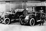 Chauffeurs with a 1906 Daimler and Renault  C1906