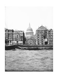Lighters Passing St Paul's Wharf with St Paul's Cathedral in the Background  London  C1905
